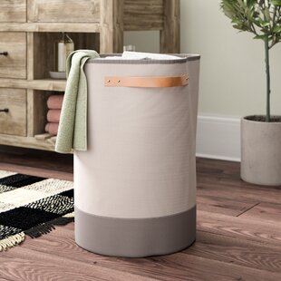 Reviews Leather Handle Laundry Hamper By Laurel Foundry Modern Farmhouse
