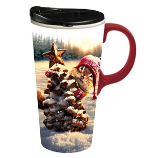 ceramic travel mug with lid wayfair