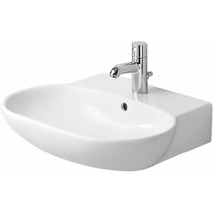 Read Reviews Foster Ceramic 24 Wall Mount Bathroom Sink with Overflow By Duravit