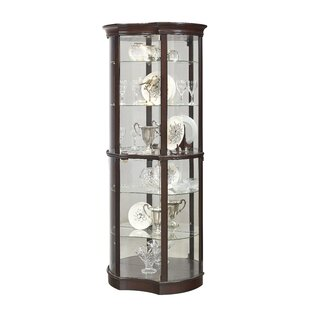 Astoria Grand Beron Lighted Curio Cabinet