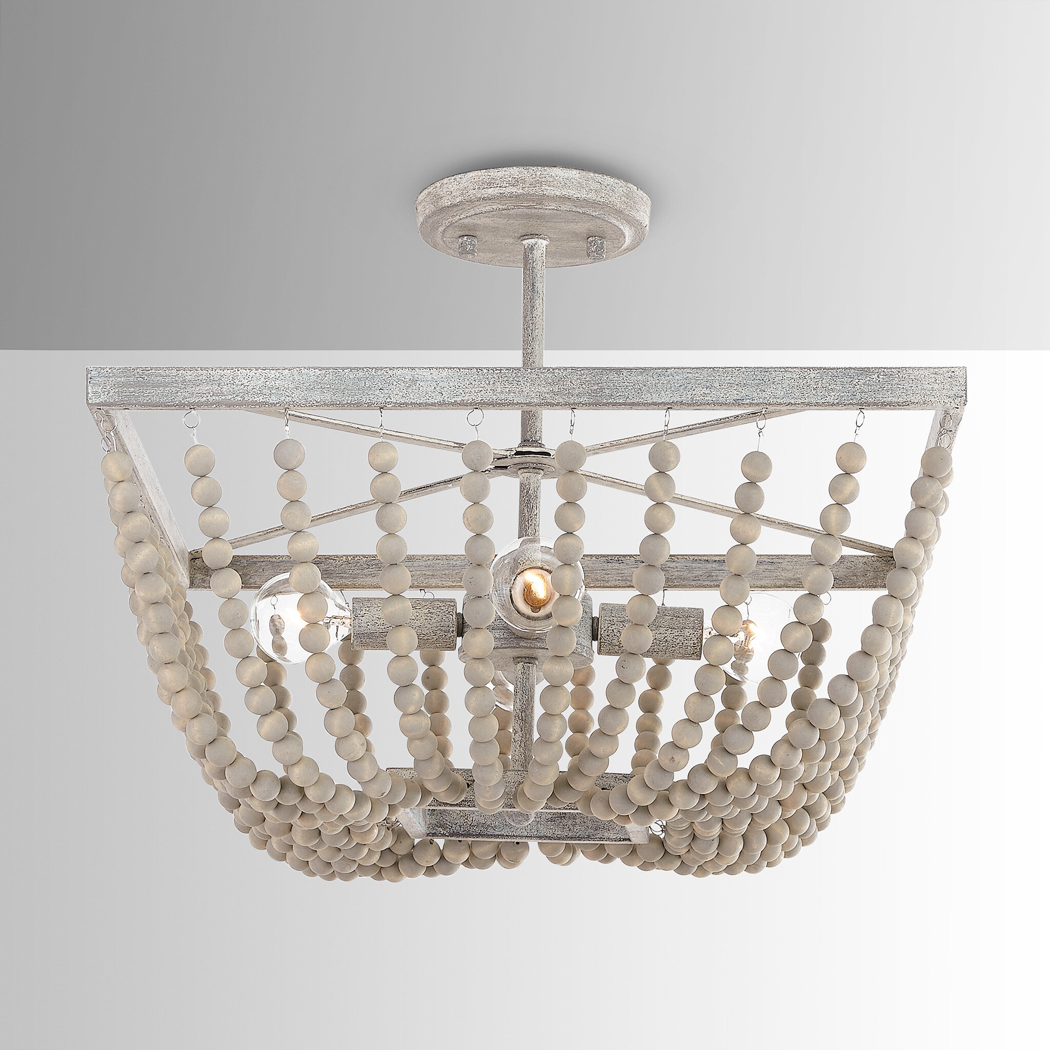 Kelly Clarkson Home Emilia 4 Light 17 Chandelier Style Bowl Semi Flush Mount Reviews Wayfair