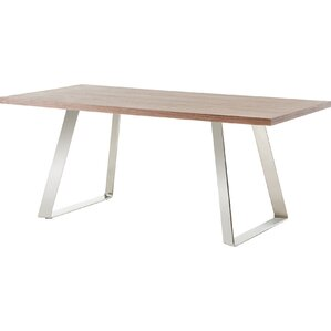 Camron Modern Steel Base Dining Table by ..
