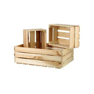 3 Piece Wooden Box Set By Brambly Cottage