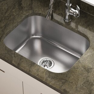 Review Stainless Steel 23 x 18 Undermount Kitchen Sink by MR Direct