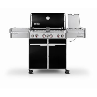 Summit E-470 4-Burner Natural Gas Grill with Side Burner by Weber