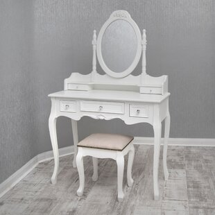 Labrador Dressing Table Set With Mirror By Lily Manor