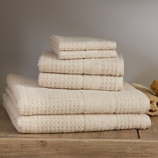 Chasteen 6 Piece Turkish Cotton Towel Set