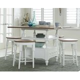 Pineville 5 - Piece Counter Height Dining Set by Rosecliff Heights