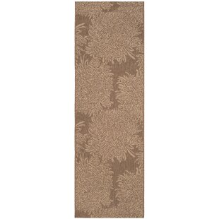 Chrysanthemum Brown Indoor/Outdoor Area Rug