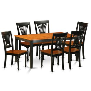 Cleobury Traditional 7 Piece Wood Dining Set with Rectangular Table Top
