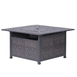 Fleur De Lis Living Bean Aluminum Propane Gas Fire Pit Table