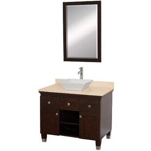 Check Prices Premiere 36 Single Espresso Bathroom Vanity Set with Mirror By Wyndham Collection