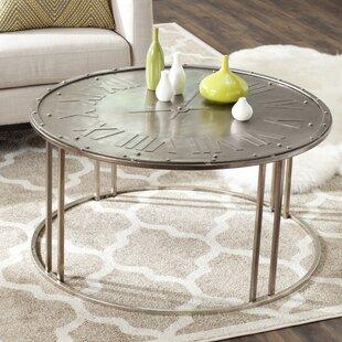 Fox Roman Clock Coffee Table by Safavieh
