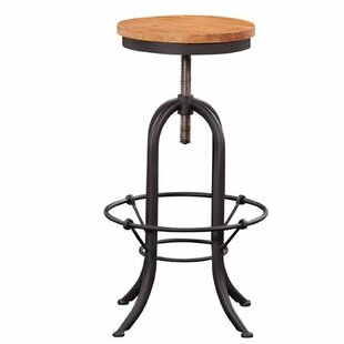 Andrew Adjustable Height Swivel Bar Stool by 17 Stories