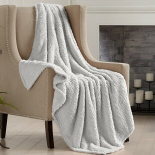 Rhine Knitted Plush Solid Throw