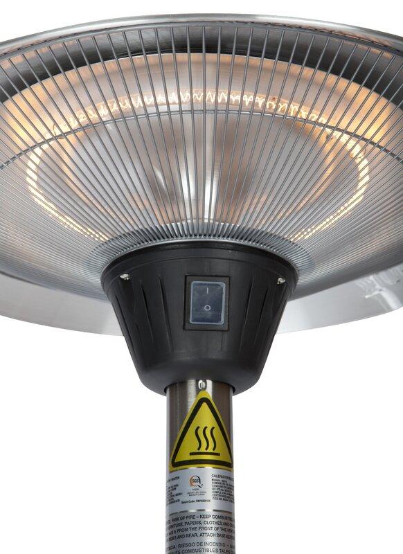 Fire Sense Frisco Halogen Watt Electric Patio Heater