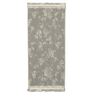 Ivy Graphic Print Text Sheer Rod Pocket Single Curtain Panel By Heritage Lace