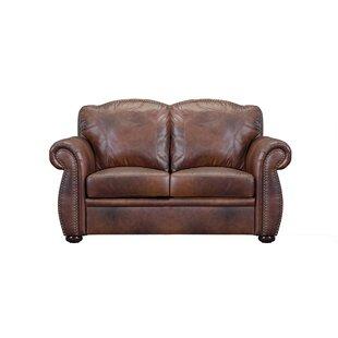 Canora Grey Danieli Leather Loveseat