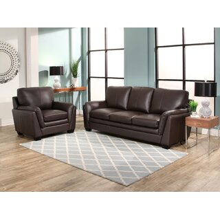 Whitstran 2 Piece Leather Living Room Set by Darby Home Co SKU:AE210667 Guide