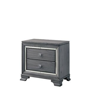 Montecito Solid Wood 2 Drawer Nightstand by Rosdorf Park