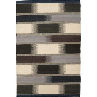 Benoit Handmade Kilim Wool Grey Rug by Metro Lane