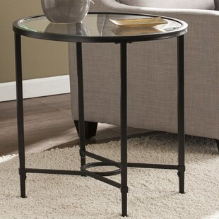 Zipcode Design Buloke Metal/Glass Oval End Table