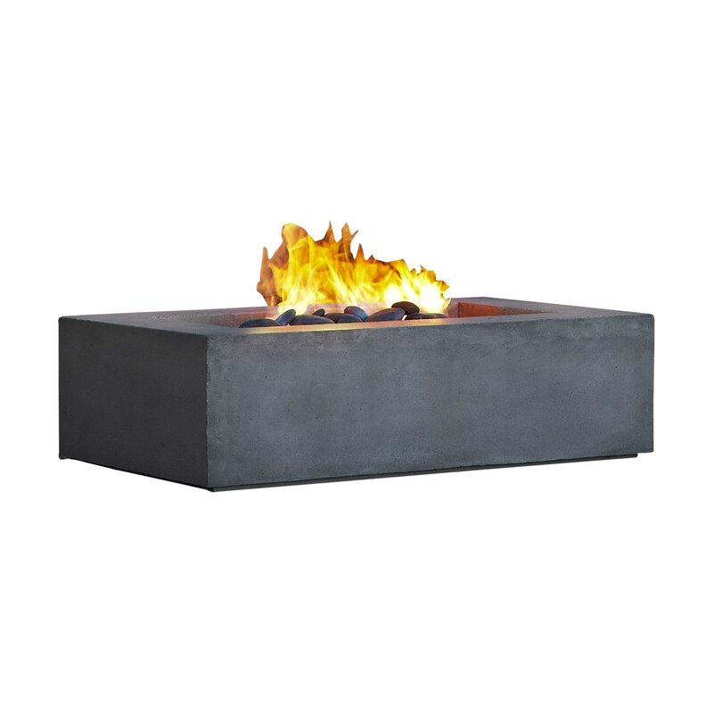 real flame baltic concrete natural gas fire pit table reviews wayfair. Black Bedroom Furniture Sets. Home Design Ideas