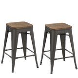 Vivian 24 Bar Stool (Set of 2) by Williston Forge