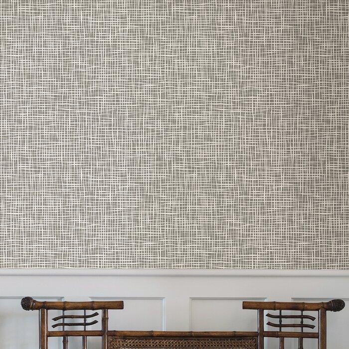 Gaudet Grid 33 L X 20 5 W Abstract Wallpaper Roll