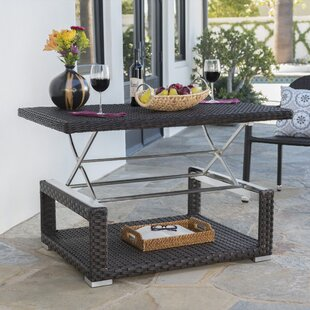Pineiro Outdoor Extendable Wicker Coffee Table
