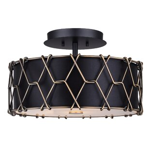 Tosha 2-Light Semi Flush Mount by Williston Forge