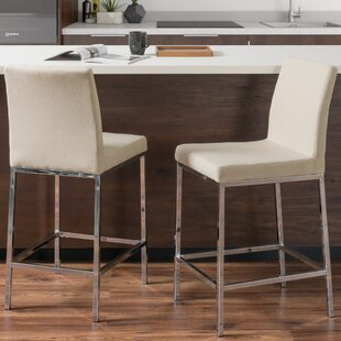 Onya Fabric Bar Stool (Set of 2) Orren Ellis