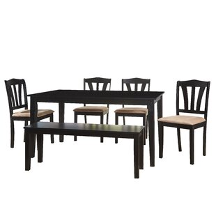 Alcott Hill Hysell 6 Piece Dining Set