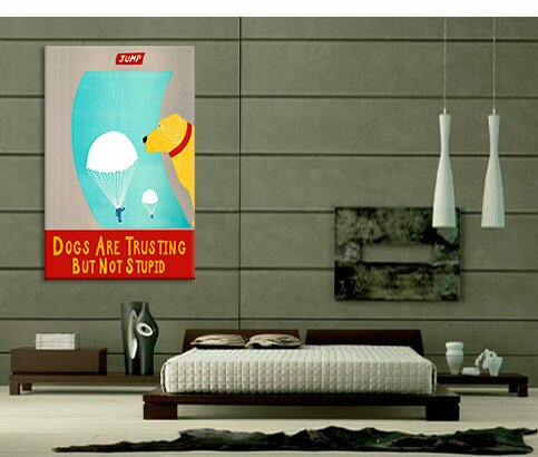 Winston Porter Dogs Are Trusting But Not Stupid By Stephen Huneck Graphic Art On Wrapped Canvas Wayfair