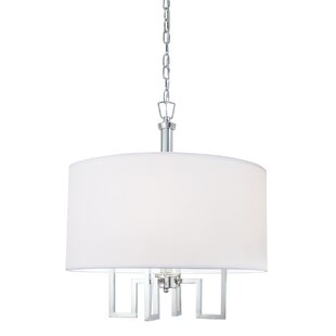 Everly Quinn Borquez 4-Light Chandelier