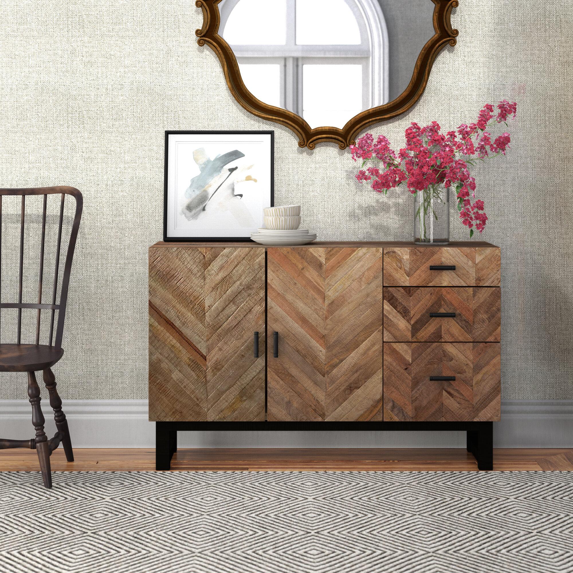 Daryl 54 Wide 3 Drawer Mango Wood Sideboard Reviews Joss Main