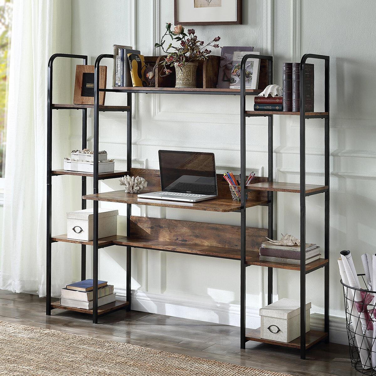 17 Stories Hilltop Desk With Hutch Wayfair