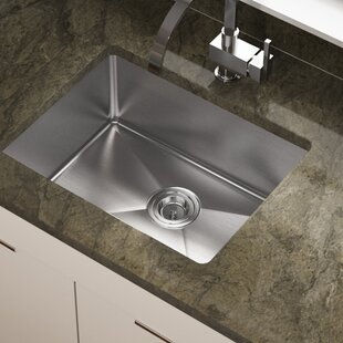 Review Stainless Steel 18 x 23 Undermount Kitchen Sink by MR Direct