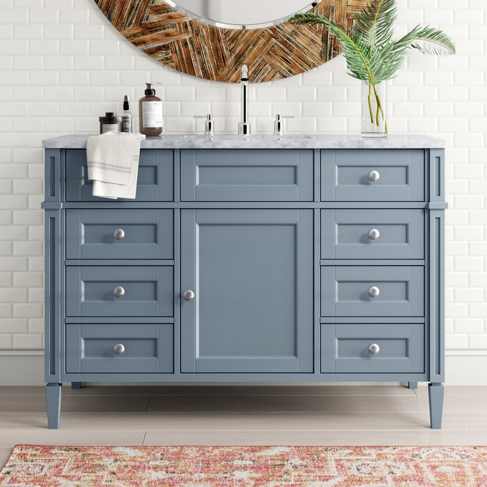 Wayfair Bathroom Vanity >> Mauricio French 48 Single Bathroom Vanity Set