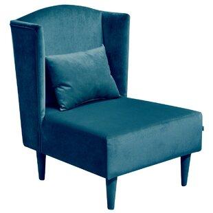 Pepi Plush Wingback Chair By Happy Barok