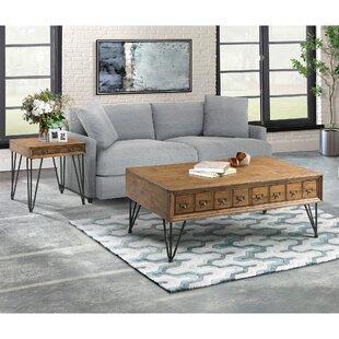 Laurel Foundry Modern Farmhouse Bayle 2 Piece Coffee Table Set