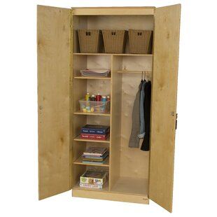 3 Compartment Classroom Cabinet with Doors by Wood Designs