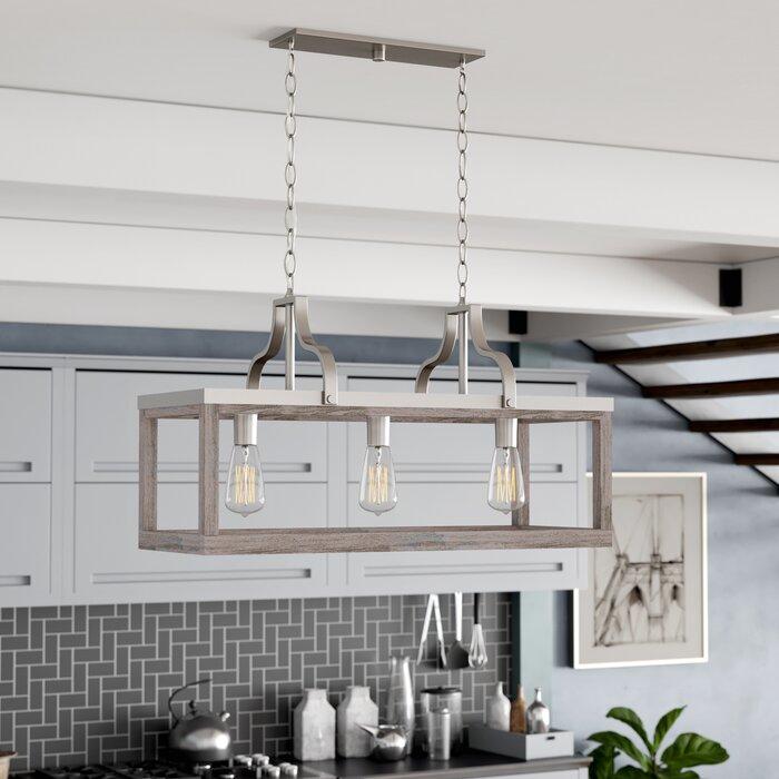 Detrick 3-Light Kitchen Island Linear Pendant