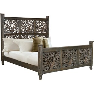 Halina Carved King Platform Bed
