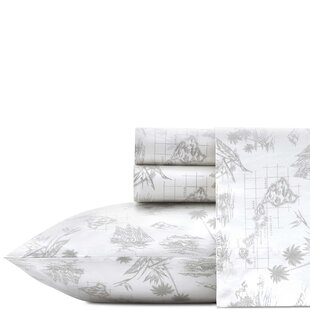 Map 200 Thread Count Floral/Flower 100% Cotton Percale Sheet Set