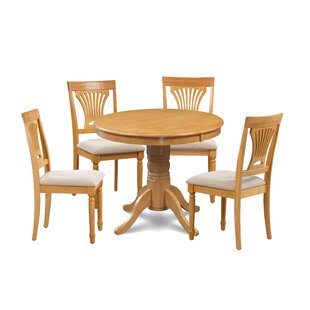 Kelston Mills 5 Piece Solid Wood Dining Set Alcott Hill