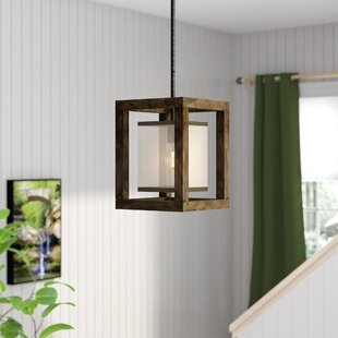Buy luxury Bundoran 1-Light Square/Rectangle Pendant By Loon Peak