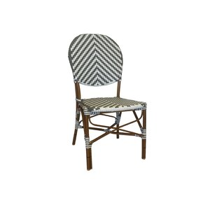 Cade French Café Stacking Patio Dining Chair  sc 1 st  Wayfair & Rattan French Bistro Chairs | Wayfair