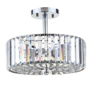 Rosdorf Park Anneke 3-Light Semi Flush Mount
