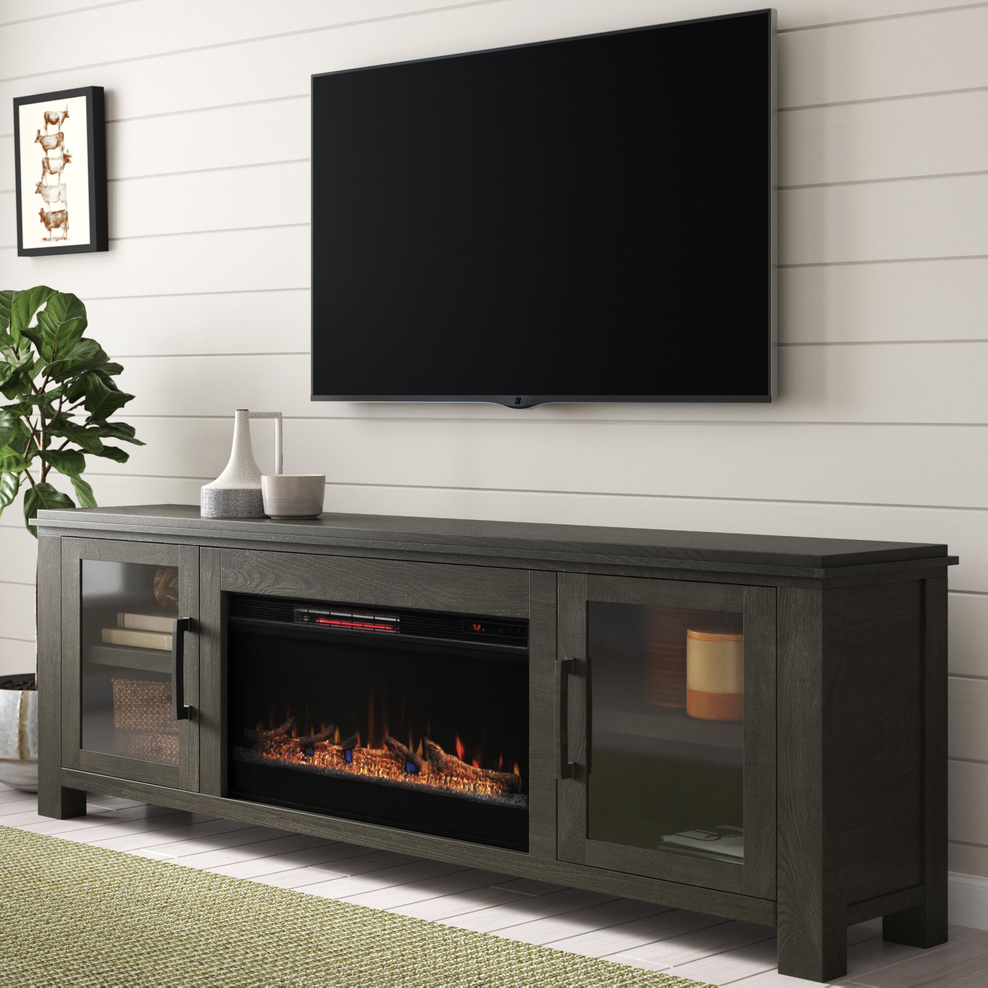 Gracie Oaks Cloyne Tv Stand For Tvs Up To 88 With Electric